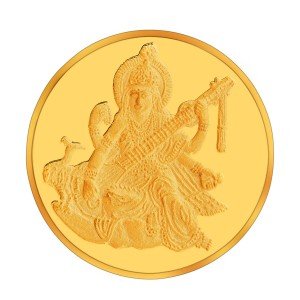 Augmont 10GM Shri Saraswati Mata Coin