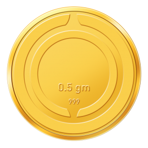 Augmont 0.5 Gm Gold Coin (999 Purity)